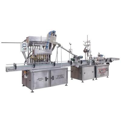 ADK 303 Volumetrik Dolum Makinası Kapaklama ve Etiket Makinası