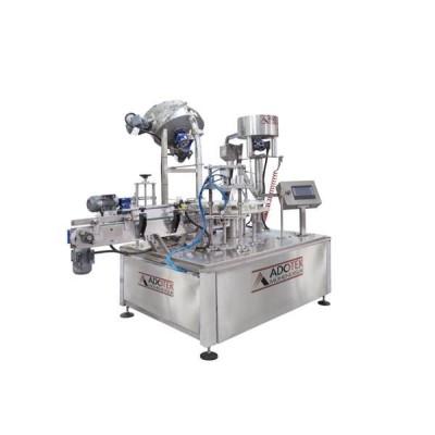 ADK 305 Rotary Şişe Vermeli Dolum Kapaklama ve Etiketleme Makinası