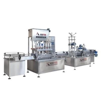 ADK 308 Kavanoz Reçel Dolum , Kapaklama Ve Etiketleme Makinası